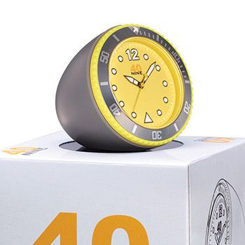 40Nine 45mm Yellow & Grey Clock
