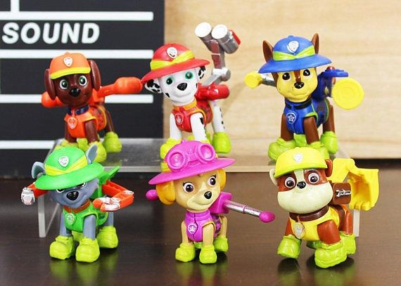 CAKE TOPPER  PAW Patrol 6 Figure Set Birthday Party Cupcakes