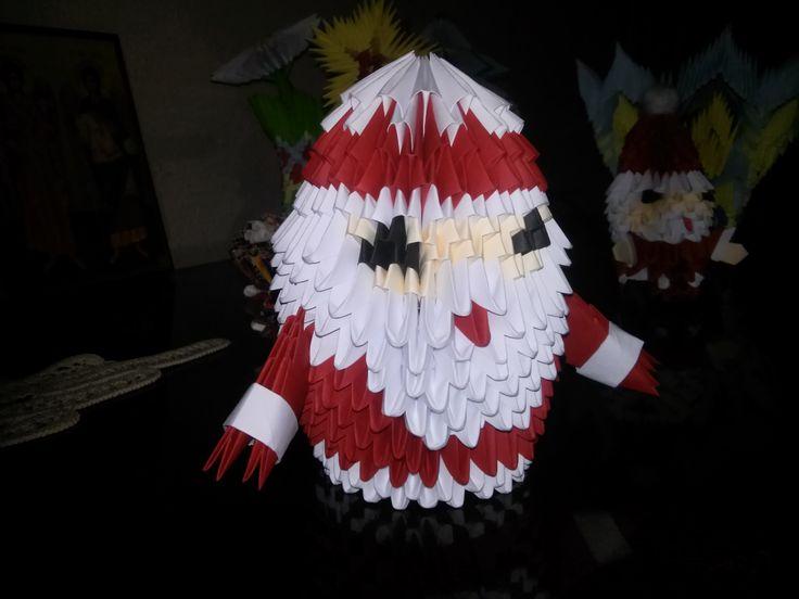 Aţi fost cuminţi? Mihaela's Origami3D Santa Claus Christmas Decorations.
