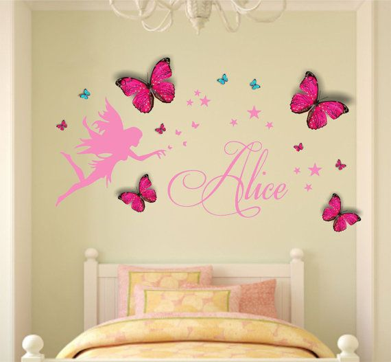 Fairy Wall Art 12 best butterfly & fairy images on pinterest | bedroom ideas