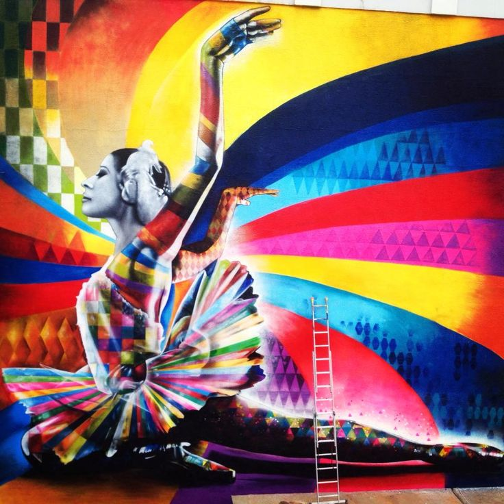 Street Art : Eduardo Kobra. Last work in Moscow, october 2013