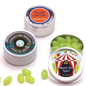 Bar Mitzvah Personalized Clear Top Tins - Bar Mitzvah & Bat Mitzvah Party Favors - Other Occasions - Wedding Favors & Party Supplies - Favors and Flowers