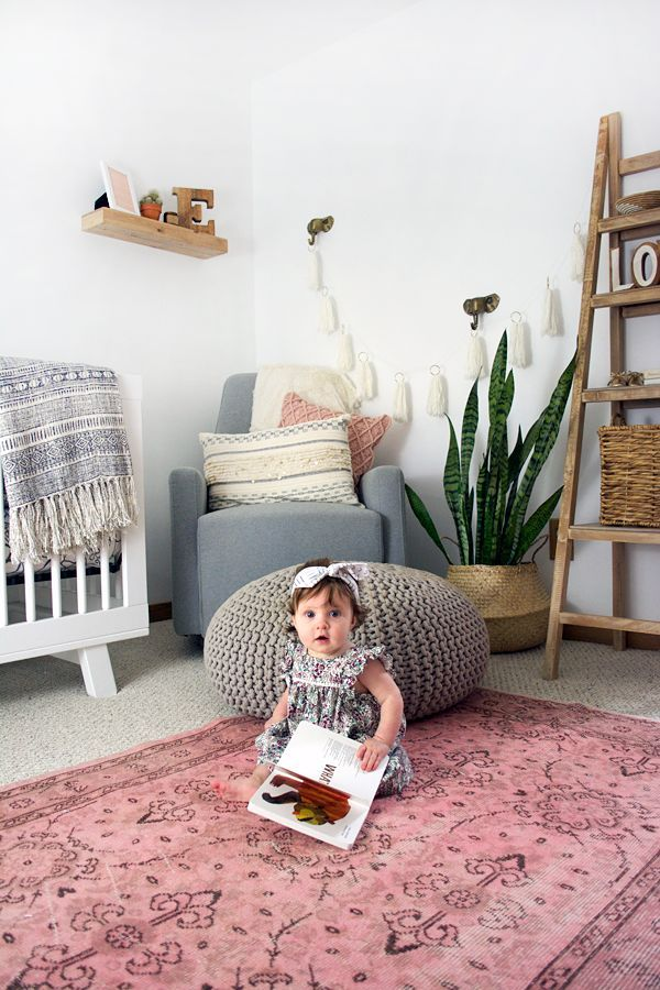 Marvelous Boho Chic Girlu0027s Nursery Reveal