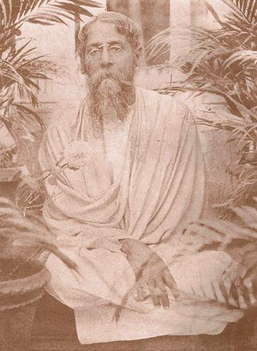 Rabindranath Tagore at the time of writing Bengali Gitanjali