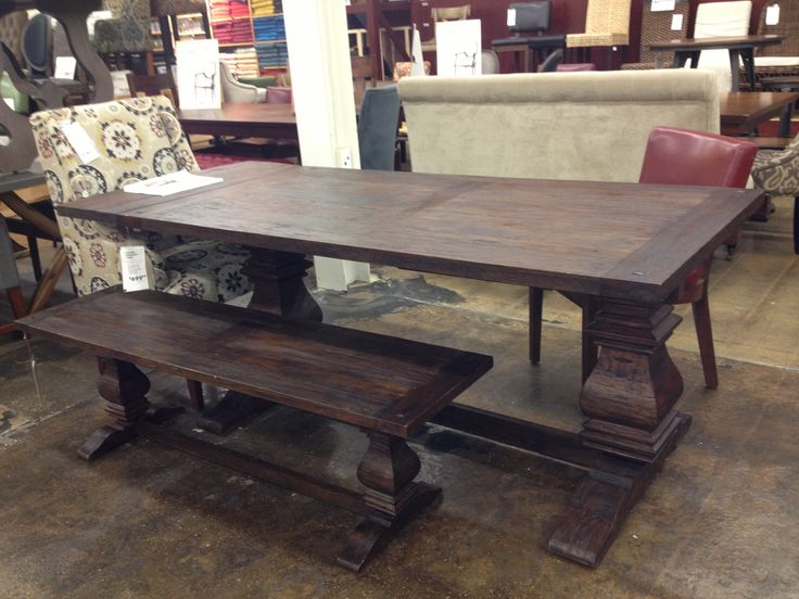 """Arcadia extension table at world market. 60-90"""" long, 36d and 30h. $699"""