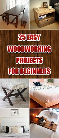 25 Easy Woodworking Projects for Beginners!                                                                                                                                                                                 More