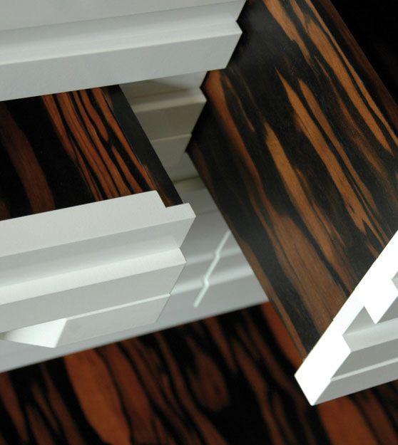 commode barre blanche - white - ebony - furniture