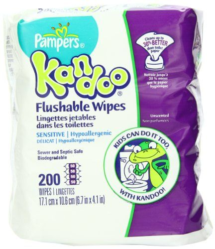Pampers Kandoo Flushable Sensitive Wipes, 200 Count | Multicityhealth.com List Price: $8.49 Discount: $0.00 Sale Price: $8.49