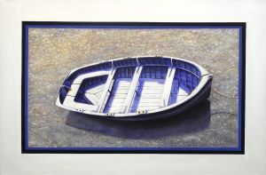 Paul Deacon, 'Beached Dinghy' Oil on canvas, 610 x 920 mm, POA at the Remuera Gallery