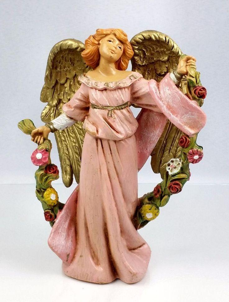 Fontanini Nativity Cira Angel w Garland 5 In Depose Italy Fountain Mark 2004 #Fontaninni