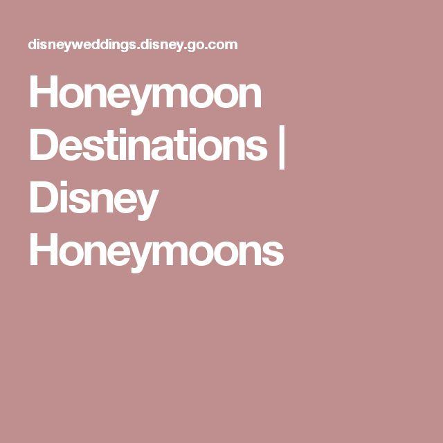 Honeymoon Destinations | Disney Honeymoons