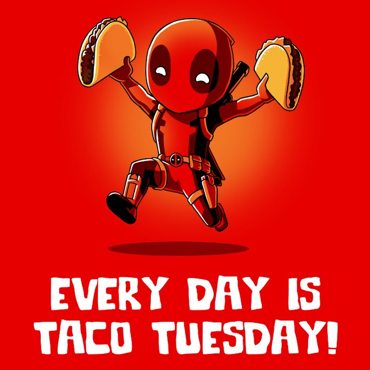 Taco Tuesday - This official Marvel t-shirt featuring Deadpool is only available at TeeTurtle!