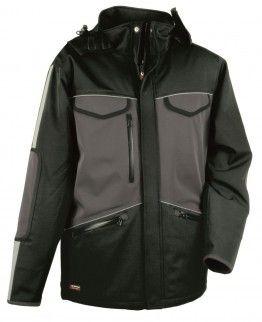 Cofra ST MORITZ  Black / Anthracite Zip Bomber, Harrington Mens Hi Vis Work Jacket - £24.99