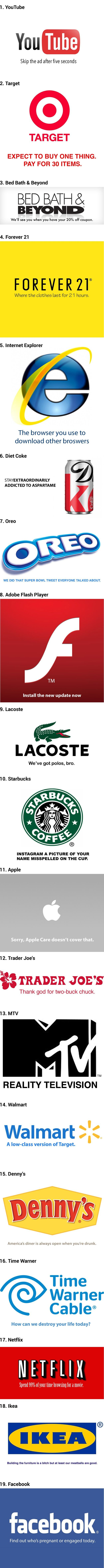 19 Honest Company Slogans You Might Agree With! Oh my gosh this is hilarious!