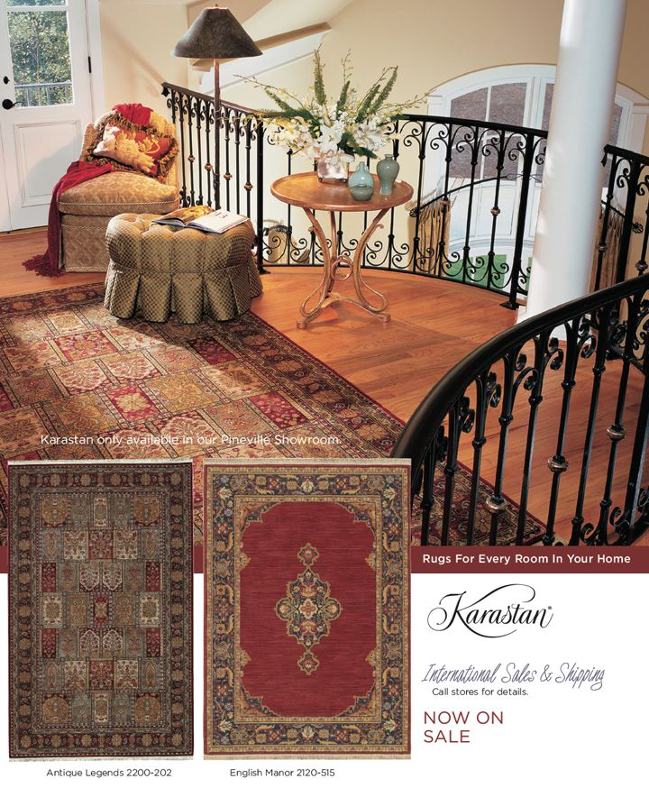 Beautiful rooms begin with a fine rug by Karastan. We have over 80 rugs to choose from. goodshomefurnishings.com
