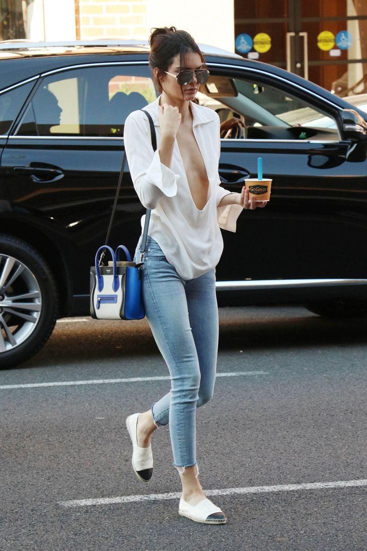 On a frozen yogurt run in Los Angeles wearing Chanel flats and a Celine bag.   - HarpersBAZAAR.com