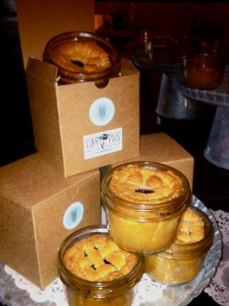 Mini pies in a mason jar