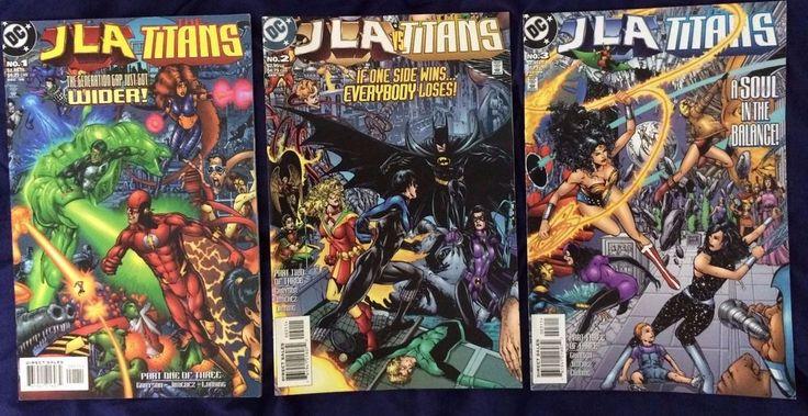 Selling On eBay - Justice League Vs #Titans 1-3 (1998) Complete #DCComics FREE POST #Batman #Superman #Justiceleague #TeenTitans #Wonderwoman #Flash