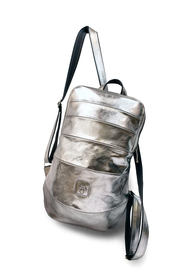 Handmade Silver Leather Backpack  www.leonidtitow.com