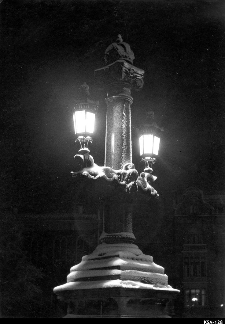 Lantaarn Blauwbrug - Amsterdam - Vintage Photo Naarden : Kees Scherer