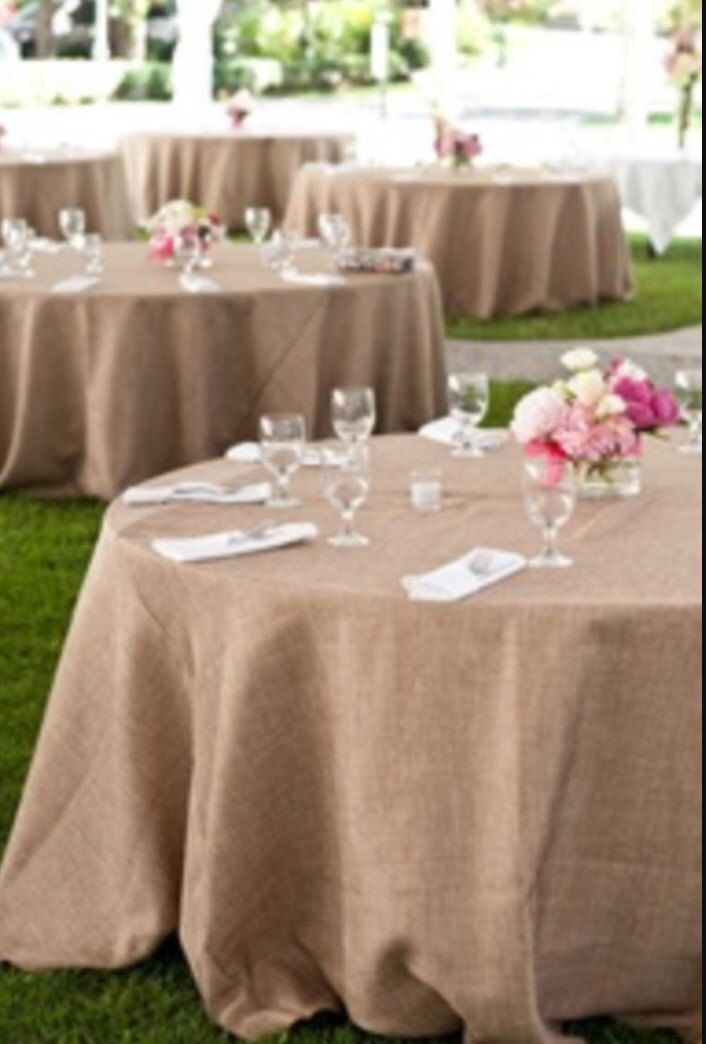 burlap tablecloth wedding table cloth sale by fantasyfabricdesigns