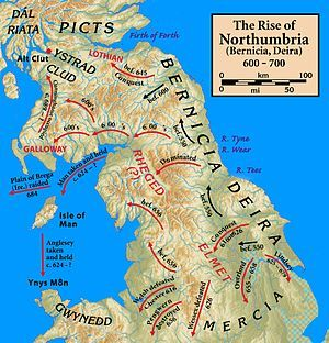 Le Mur D'hadrien, Anglo saxon, Le Vieil Anglais, Atlas, Écosse, Carte, Nord, Kingdom Of Northumbria, The Vikings