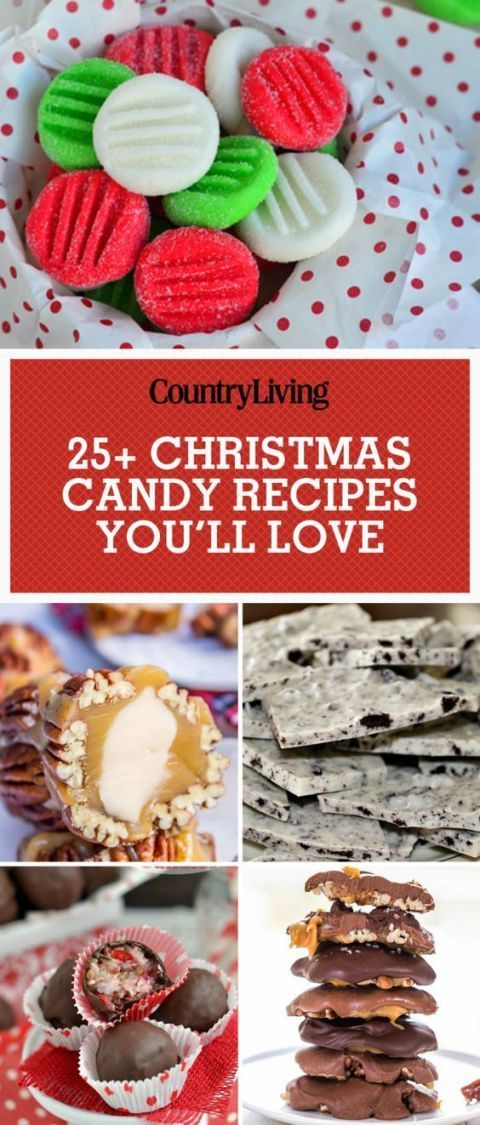 Pin these sweet Christmas candy recipes to save for later. Don't forget to follow Country Living on Pinterest for more cheery Christmas recipes!