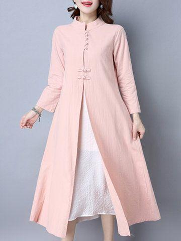 Folk Frog Color Patchwork Dresses 49% off