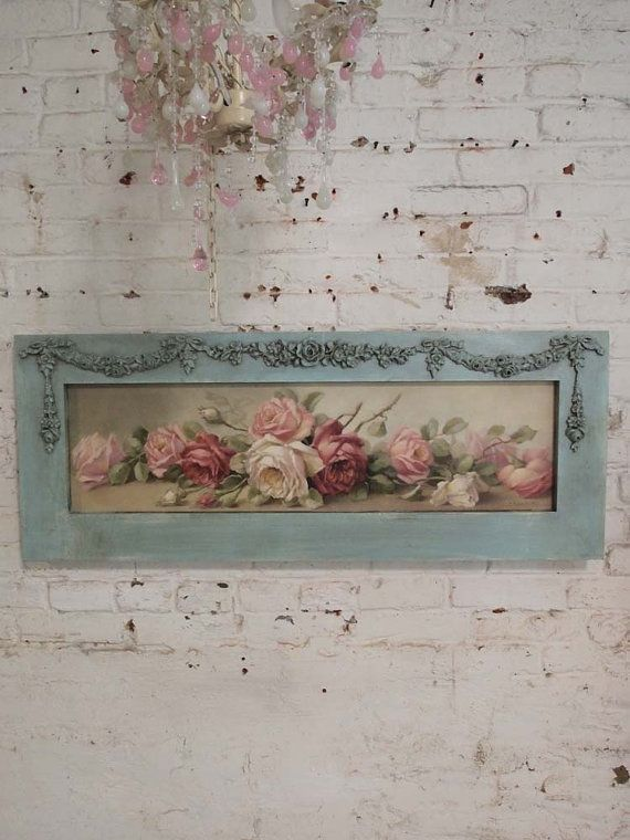 Painted Cottage Chic Shabby Romantic Rose by paintedcottages, $220.00