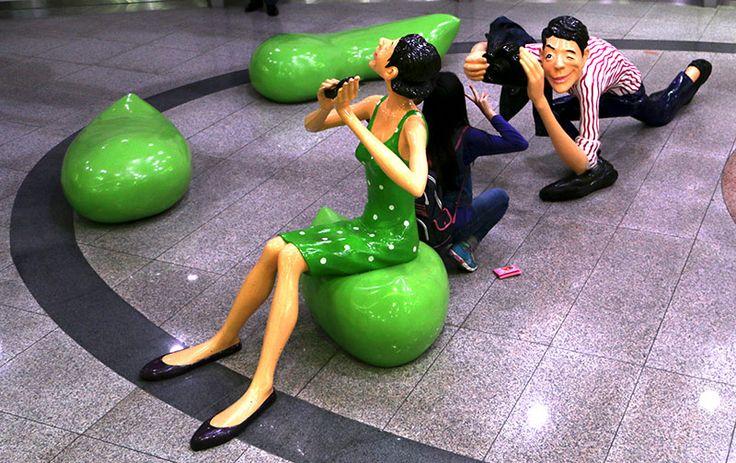 Sculpture Sangdong Station Korea