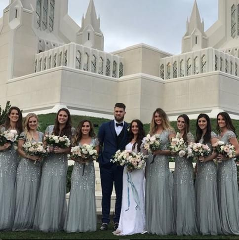 Nationals Star Bryce Harper Marries Longtime Girlfriend in San Diego
