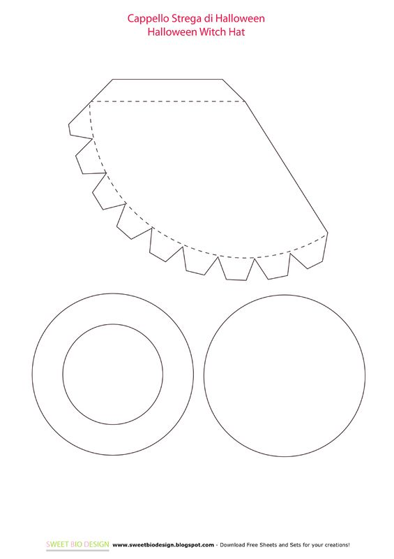 5618 best images about templates tips and tutorials on for Paper witch hat template