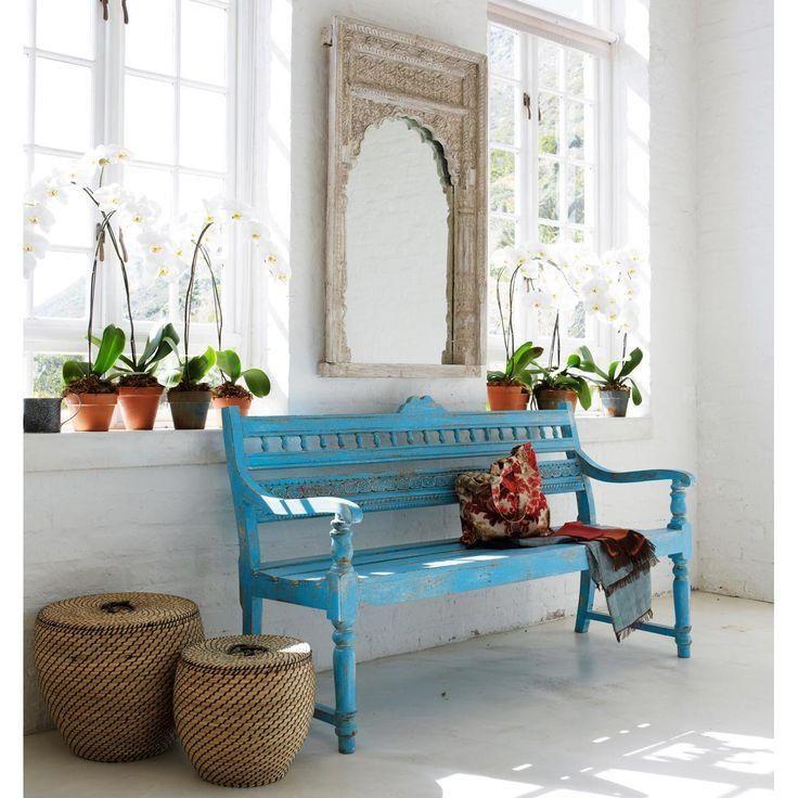 10 bancos azules reciclados para el exterior de la casa vintage ideas architecture interior. Black Bedroom Furniture Sets. Home Design Ideas