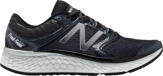 New Balance Men's Fresh Foam 1080 Road-Running Shoes Black/White 10.5