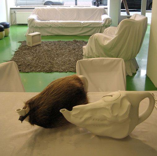 VIVID Rotterdam Pig Skull Teapot By Wieki Somers