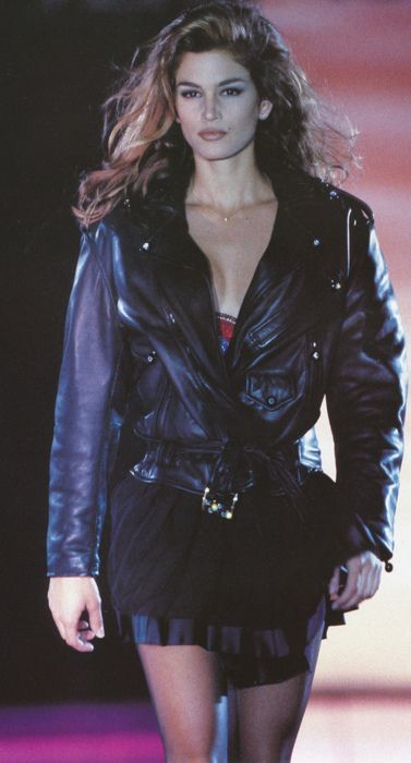 Cindy Crawford...maybe wearing versace?