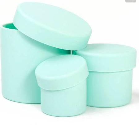 Great mint containers to display anywhere in a kitchen.