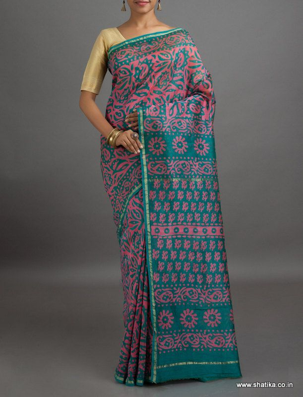 Rashmi Enchanting Color Combination #BatikPrintSaree