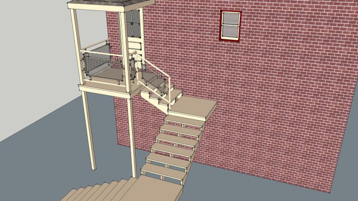 Disneyland Fire Department in 3D rear stairs