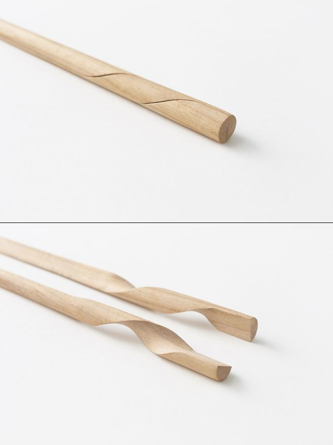 Rassen chopstick. Nendo. Reinvents the Chopstick by turning two into one