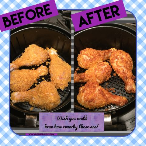 Some air fryer recipes made in an air fryer can save me TIME! Air Fryer Chicken for the Win!