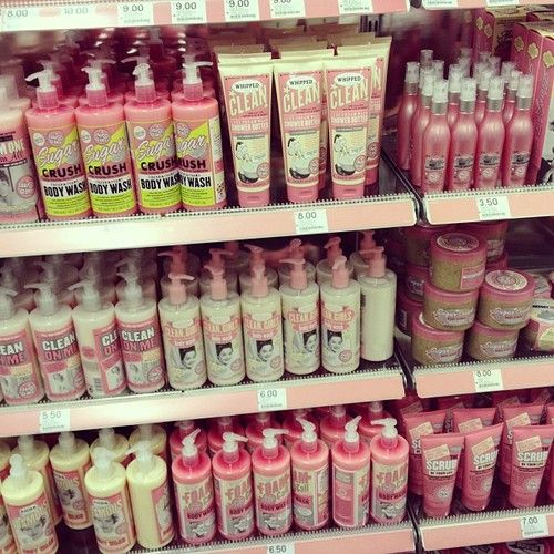 soap and glory!!! I used to buy it at target and its awesome! Where are you now???