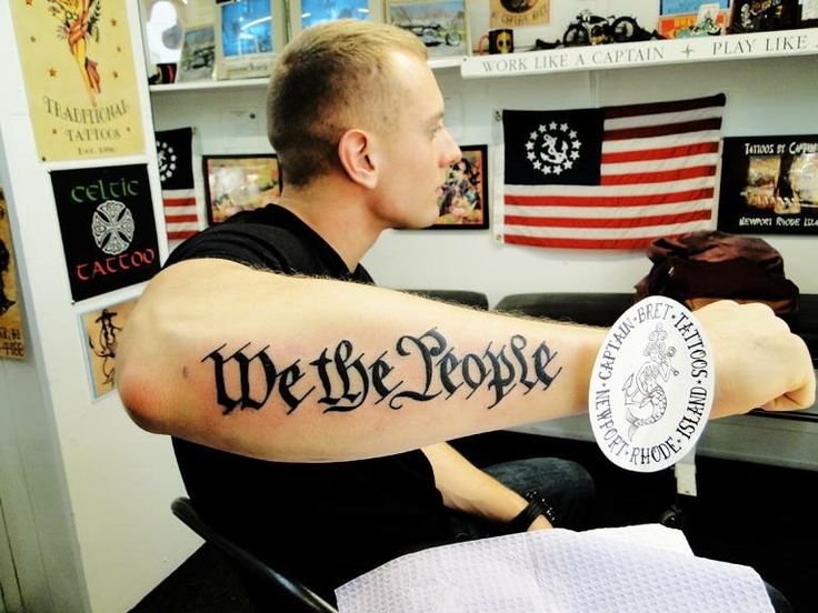 We the people #declaration of independence #Tattoo # ...