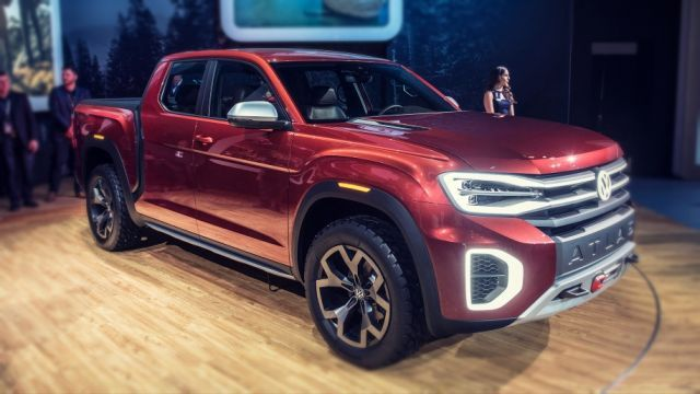 2020 Volkswagen Atlas Tanoak Is The New Suv Based Pickup Truck Pickup Trucks Volkswagen New Suv