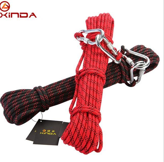 [Visit to Buy] XINDA Escalada 10m Professional Rock Climbing Rope Hiking Accessories Cord 8mm Diameter 9KN High Strength Rope Survival Tool #Advertisement