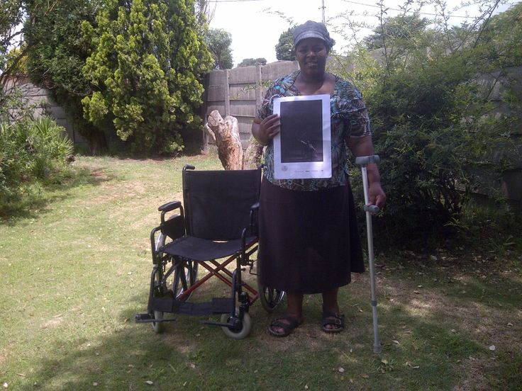 """NompumeleloKubheka - """"Although I had been trapped in a wheelchair for a few months after I had a stoke and was rejected by my husband who later divorced me. i never gave up. I got the ability to walk slowly by depending on a crutch and myself. and now I walk, those who don't know my story definately wont know what it took to get here. Never give up- keep moving! Thanks be to the South African doctors and Physiotherapists."""""""