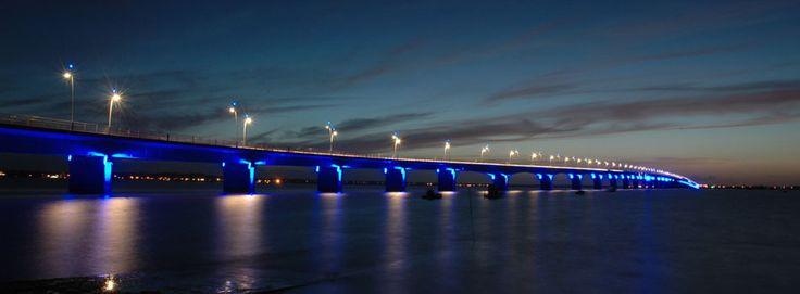 Oleron bridge to Ile d'Oleron, France
