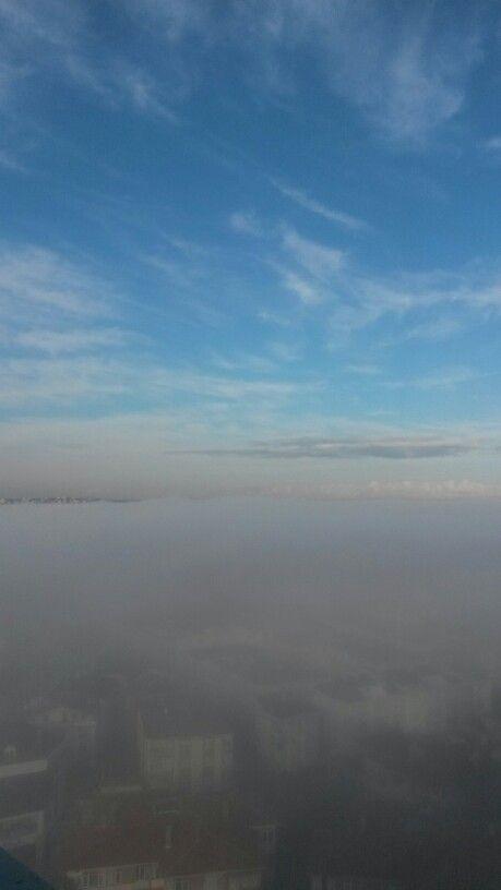Büyükçekmece de sisli bir gün