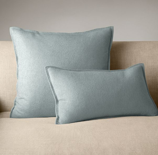 RH's Cashmere Pillow Cover:Add a touch of luxury to the sofa, bed or a favorite reading chair with a pillow cover made of our pure, plush cashmere. Supremely cozy and simply elegant, the petite flange lends it a tailored flourish.
