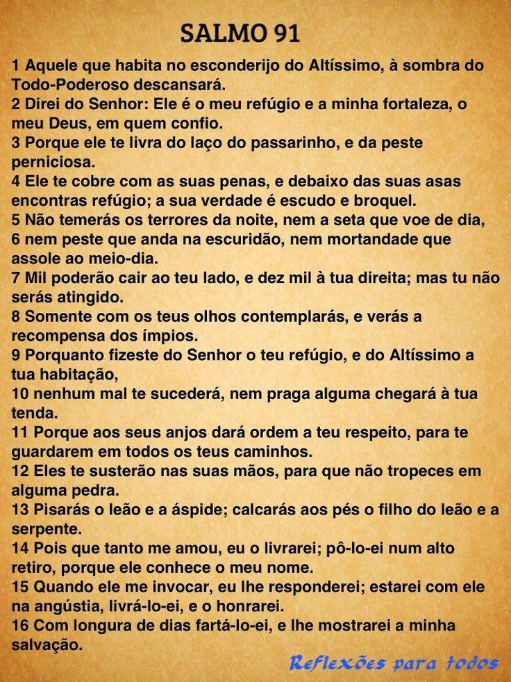 """Acesse """"SALMO 91"""", com foto mensagem do Cristo Redentor, breve relato e link para o vídeo do salmo, na voz de Cid Moreira."""